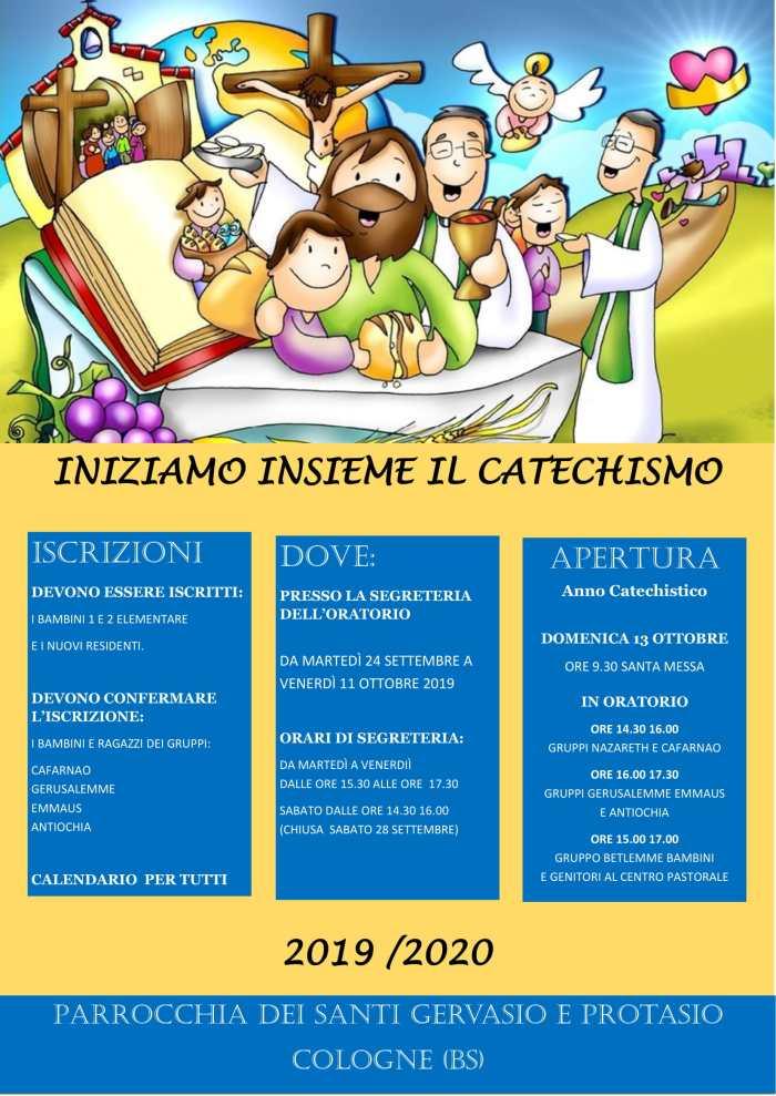 locandina iscrizioni catechismo 2019 2020-1